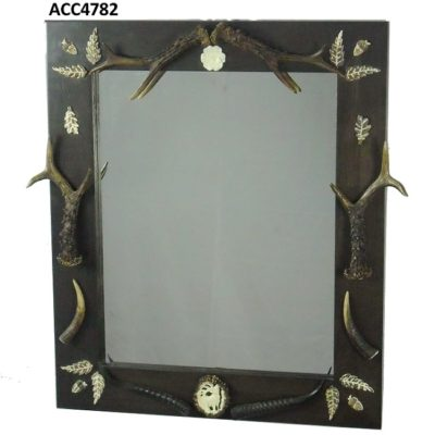 Espejo o portafotos de corzo, Asta de Ciervo, gamo y corzo, International Antler Trading SL