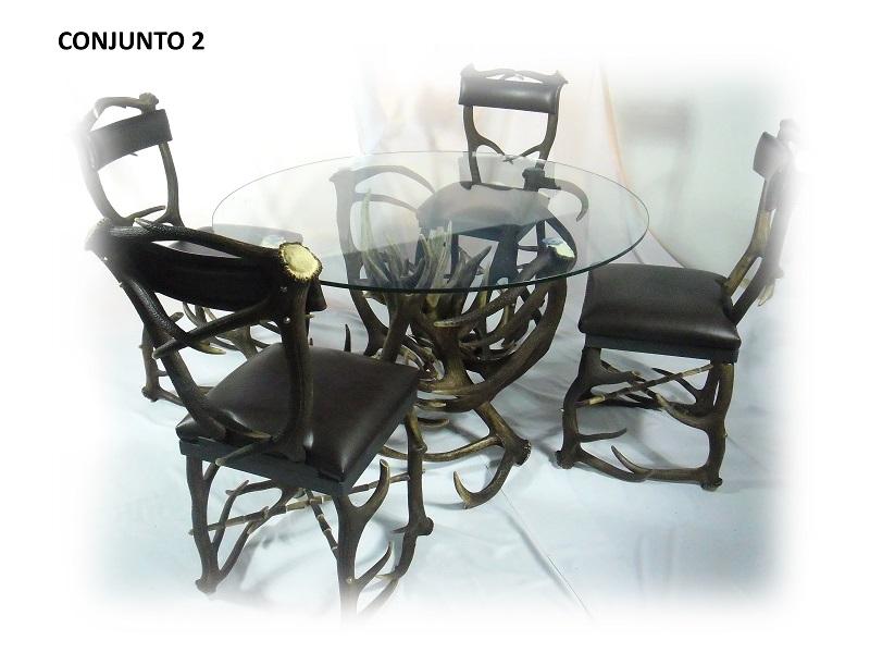Sillas y mesa de astas, Asta de Ciervo, gamo y corzo, International Antler Trading SL