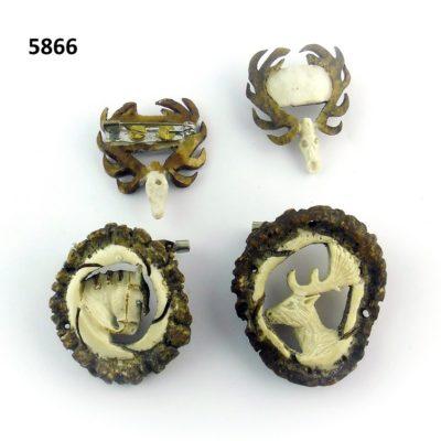 Pines tallados, Asta de Ciervo, gamo y corzo, International Antler Trading SL