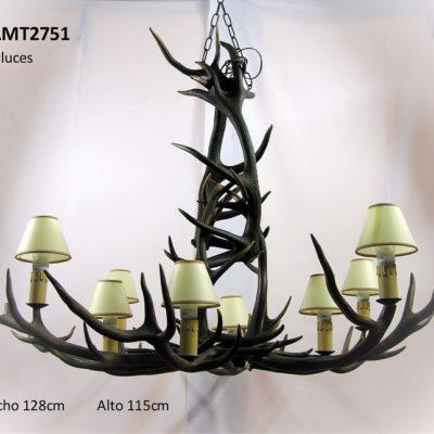 Lámpara araña grande, Asta de Ciervo, gamo y corzo, International Antler Trading SL