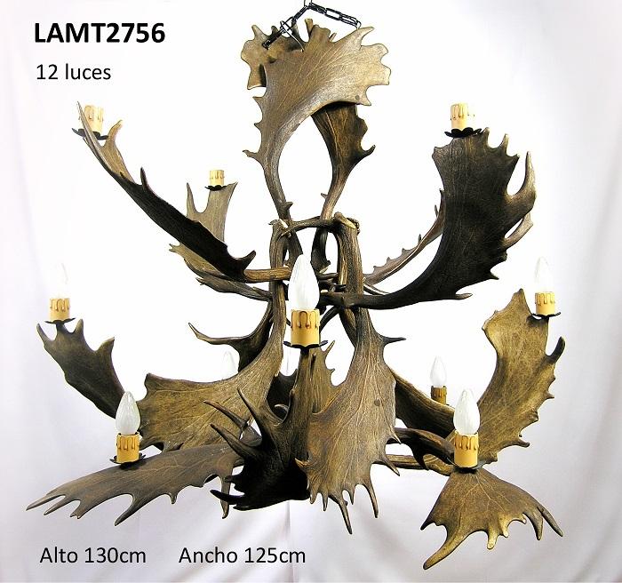 Lámpara abeto de gamo, Asta de Ciervo, gamo y corzo, International Antler Trading SL