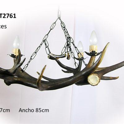 Lámpara 3 astas, Asta de Ciervo, gamo y corzo, International Antler Trading SL