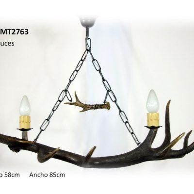 Lámpara de un asta convexa, Asta de Ciervo, gamo y corzo, International Antler Trading SL