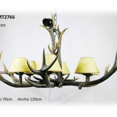 Lámpara araña pequeña, Asta de Ciervo, gamo y corzo, International Antler Trading SL