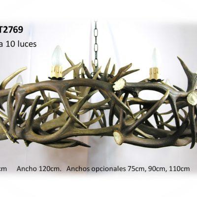 Lámpara rueda, Asta de Ciervo, gamo y corzo, International Antler Trading SL