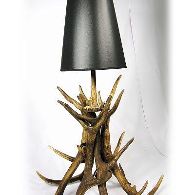 Lámpara de ciervo de sobremesa, Asta de Ciervo, gamo y corzo, International Antler Trading SL