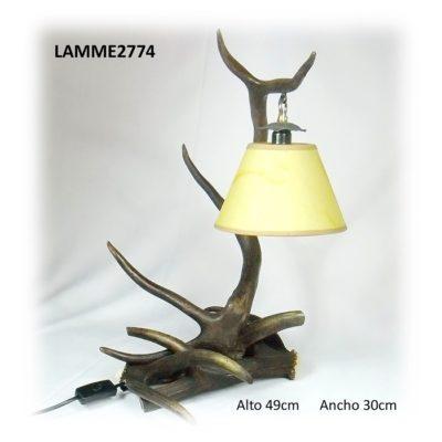 Lámpara de ciervo para mesita, Asta de Ciervo, gamo y corzo, International Antler Trading SL
