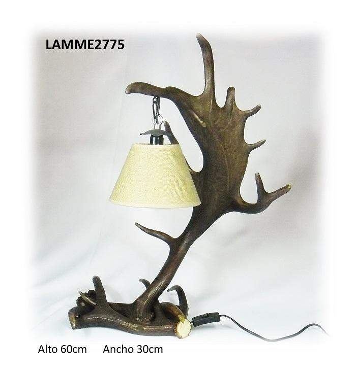 Lámpara de gamo para mesita, Asta de Ciervo, gamo y corzo, International Antler Trading SL