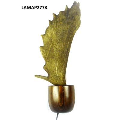 Aplique de gamo con madera, Asta de Ciervo, gamo y corzo, International Antler Trading SL