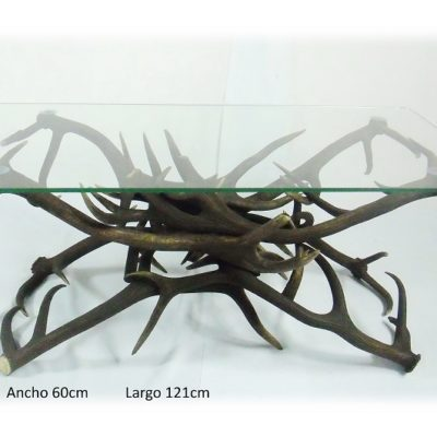 Mesa rectangular, Asta de Ciervo, gamo y corzo, International Antler Trading SL