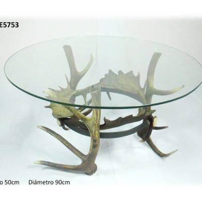 Mesa redonda, Asta de Ciervo, gamo y corzo, International Antler Trading SL
