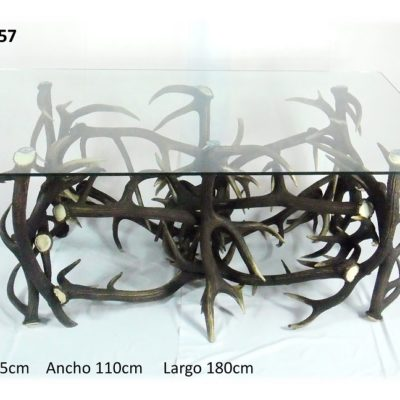 Mesa rectangular comedor, Asta de Ciervo, gamo y corzo, International Antler Trading SL