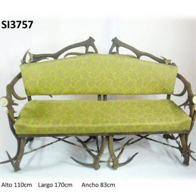 Sofá 3 plazas, Asta de Ciervo, gamo y corzo, International Antler Trading SL
