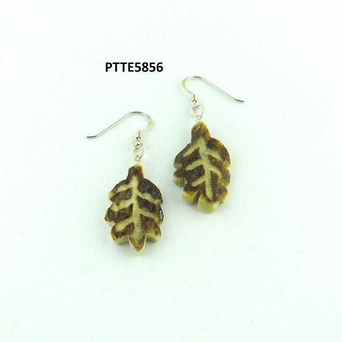 Pendientes hojas, Asta de Ciervo, gamo y corzo, International Antler Trading SL