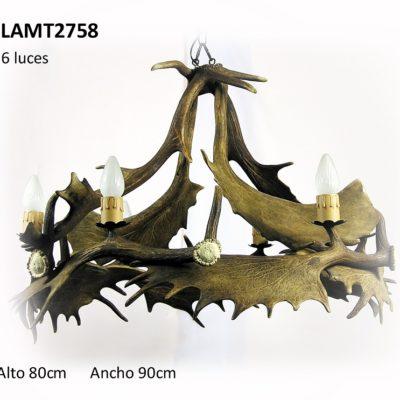 Lámpara de gamo 6 luces, Asta de Ciervo, gamo y corzo, International Antler Trading SL
