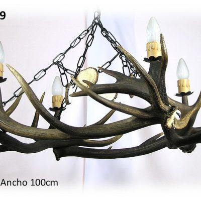 Lámpara de ciervo 4 astas, Asta de Ciervo, gamo y corzo, International Antler Trading SL