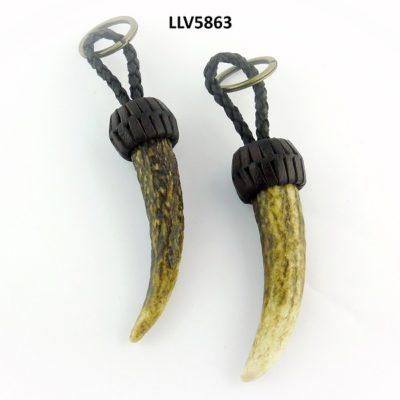 Llavero punta madroño, Asta de Ciervo, gamo y corzo, International Antler Trading SL